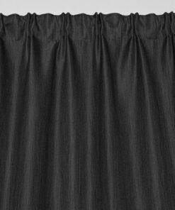 Marion gordijn 100% lichtdicht met plooiband Antraciet voorkant boven
