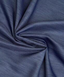 Marion gordijn 100% lichtdicht met plooiband Blauw stofdetail