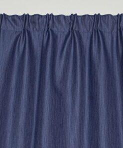 Marion gordijn 100% lichtdicht met plooiband Blauw voorkant boven