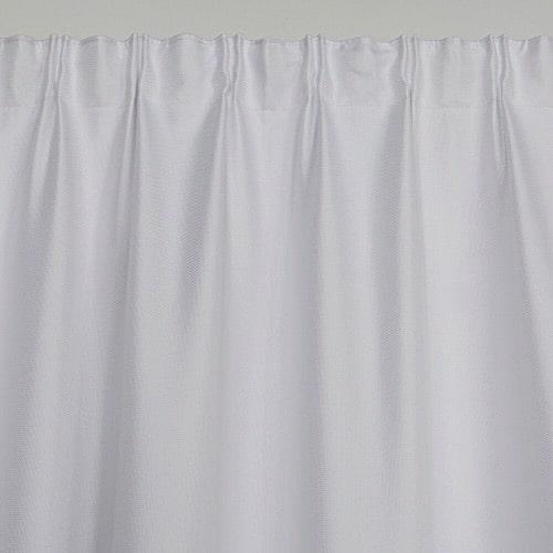 Marion gordijn 100% lichtdicht met plooiband Wit voorkant boven