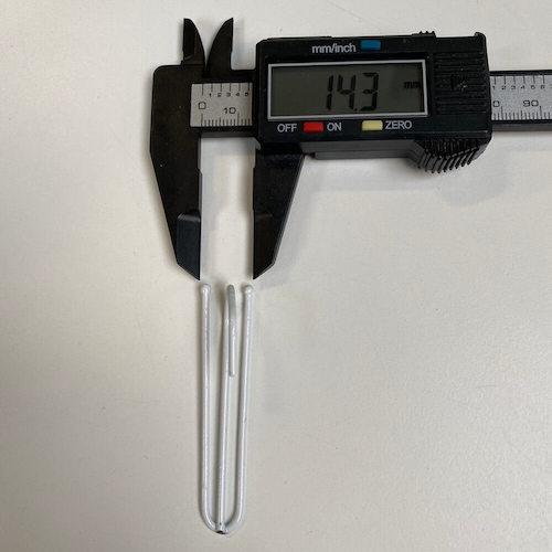 2 poot plooihaak voor gordijnen en vitrages - breedte 15 mm